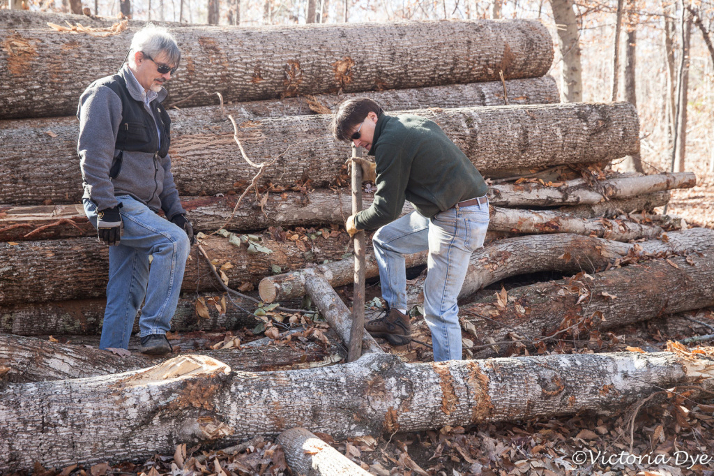 Jeff & Rob lever a log